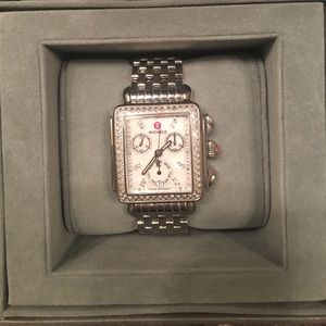 Michele Art Deco Diamond Watch