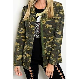 Jackets & Blazers - Shoulder Studded, Gracie Military Utility Jacket