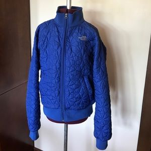The North Face Blue Quilted Puffer Jacket M
