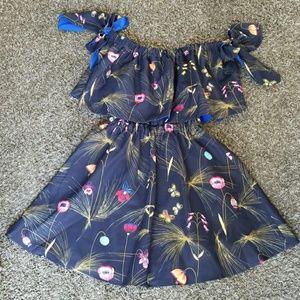 FENDI SOLD OUT off the shoulder dress