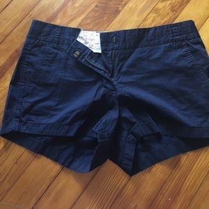 J Crew navy chino shorts size 8