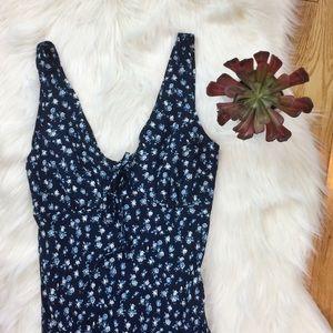 90's Retro Vintage Floral Maxi Dress