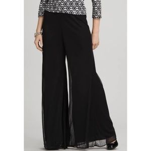 Black Palazzo Pants Flowing Large Petite Formal