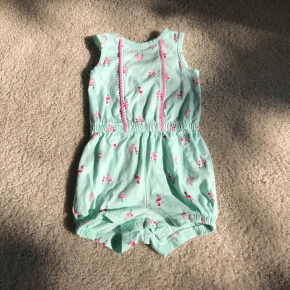 b00393b0f2e8 cat and jack Other - Baby Girl Flamingo Romper