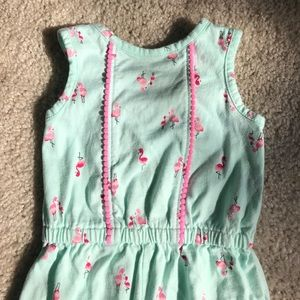 45643a7fe6eb cat and jack Bottoms - Baby Girl Flamingo Romper