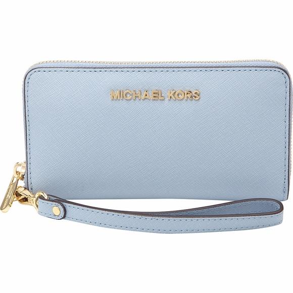 0ac564ce6c KORS Michael Kors Handbags - Michael Kors Jet Set Baby Blue Wallet   Clutch