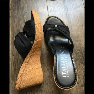 Shoes - Italian Made Leather Wedges