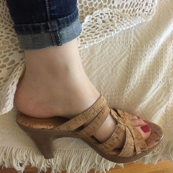 adbdfccffac2e Vegan cork light brown tan clog sandals mules sz 7