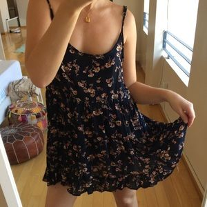 Brandy Melville Jada dress in navy floral
