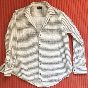 Madewell flannel striped shirt, S