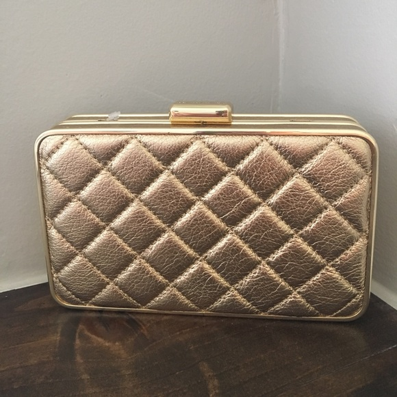 a11f0e1df007 MICHAEL Michael Kors Bags | Michael Kors Elsie Quilted Pale Gold Box ...