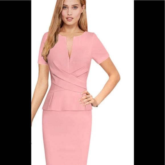 68bbd4b2 sundance boutique Dresses | Blush Color Crossover Peplum Waist ...
