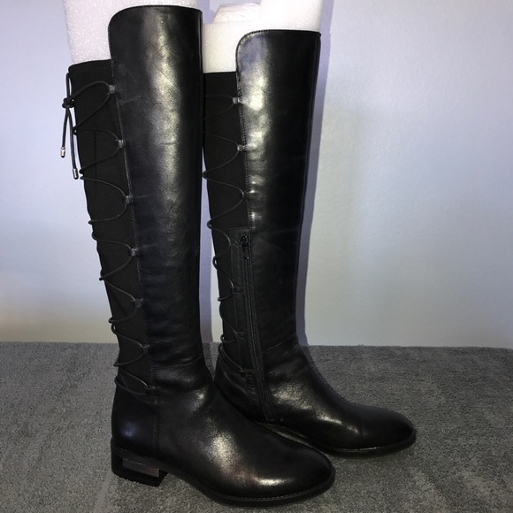 Vince Camuto Parle Black Leather Laceup