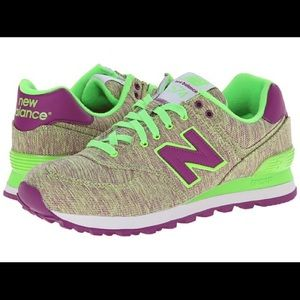 NEW BALANCE Sneakers in Glitch (green and purple)