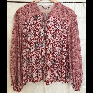 Free People Floral Open Cardigan