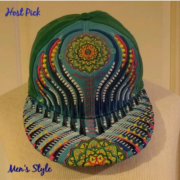 Grassroots California Other - 🎉HP🎉 Green Mandala Michael Garfield Fitted  Hat b9f17d63c636