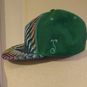 Grassroots California Accessories - 🎉HP🎉 Green Mandala Michael Garfield  Fitted Hat b306493ac240