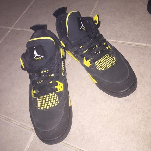 Jordan Shoes   Black And Yellow 4s