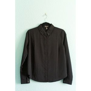 F21 | Studded Collar Button-Down Top