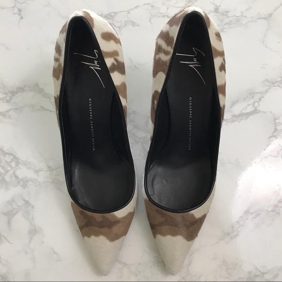 9d59f922b2231 Giuseppe Zanotti Shoes - SALE❤ Giuseppe Yvette Calf Camo Pointed Toe Pumps