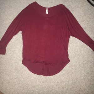 Red dolman sleeve top