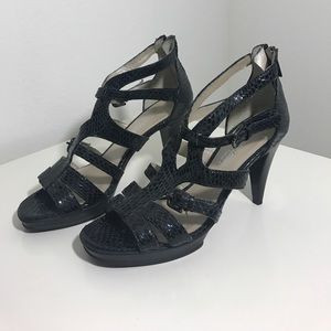 Aquatalia embossed heels