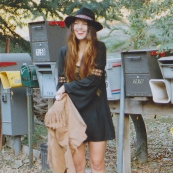 f3f02161bd2d Stone cold fox x uo ninas black bell sleeve dress.  M 59a20f207f0a05e35f02fa20