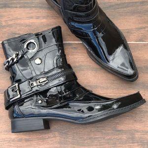 Pointed Toe Mid Calf Edgy Rockstar Boot
