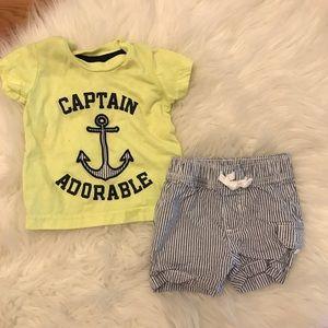 Carter's Captain Adorable Tee & Cargo Shorts 3M
