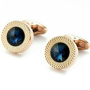 Other - CRYSTALS CUFF LINKS Gold