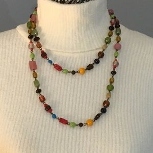 Jewelry - Necklace, multi colored/shaped glass beads