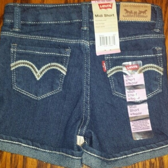 c230d23a Levi's Bottoms | Girls Size 4 Levis Reg Midi Denim Jean Shorts ...