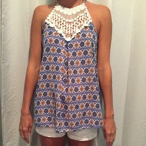 sale Lace and satin tank top