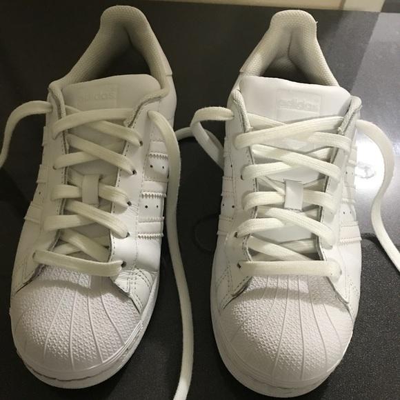le adidas superstar poshmark bianco originale