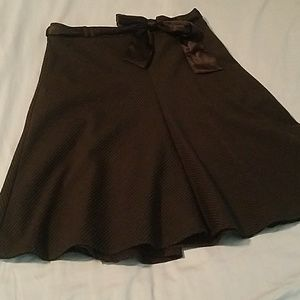 Black pinstripe skirt