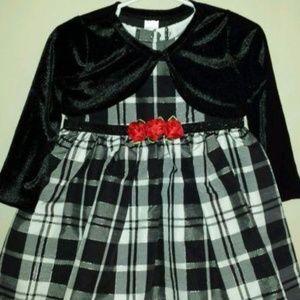 a00eff362f27a Girls Size 18 M Black   White Plaid Party Dress
