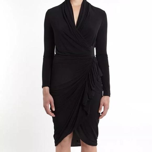 All Saints Dresses   Skirts - All Saints Swinton Draped Jersey Black Wrap  Dress 623774c93