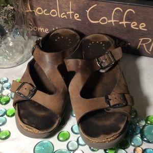 Mephisto Leather Sandals