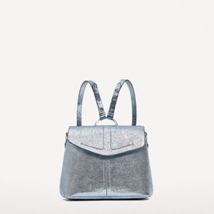 ZARA metallic backpack with rings