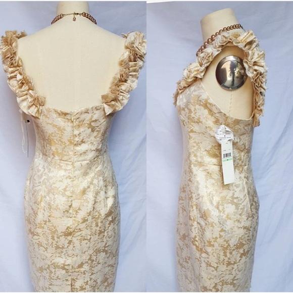 London Times Dresses - London Times Ruffle Neck Cocktail Dress