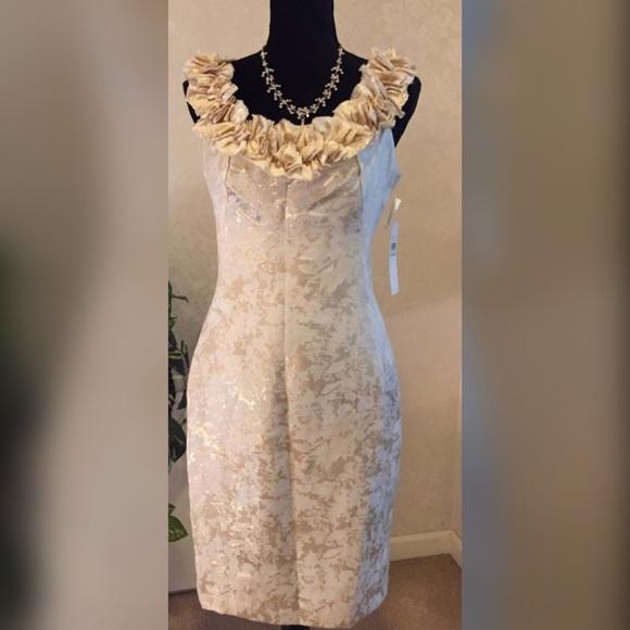 London Times Dresses & Skirts - London Times Ruffle Neck Cocktail Dress