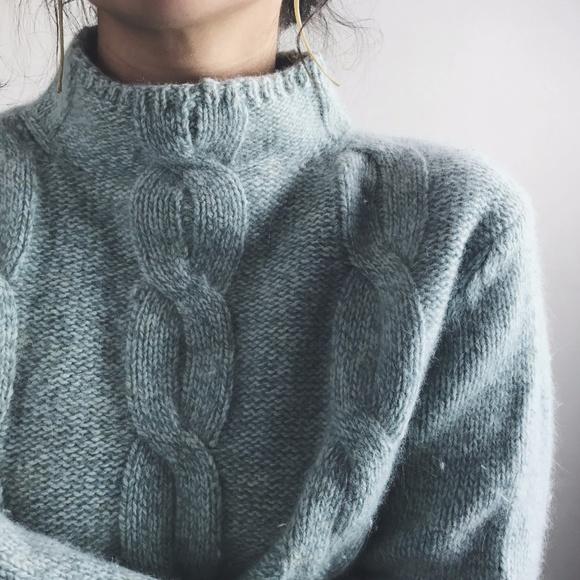 L.L.BEAN angora knit