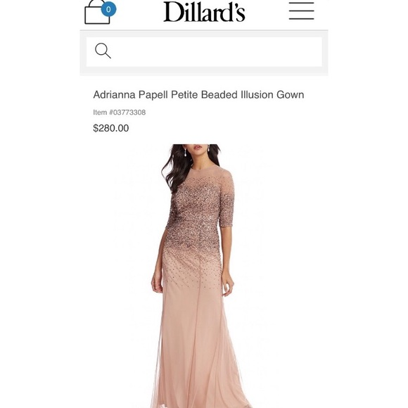 Adrianna Papell Dresses | New Petite Beaded Evening Gown | Poshmark