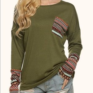 Tops - Green long sleeve Top