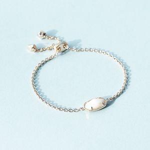 NEW Kendra Scott Elaina Rose Gold Bracelet White