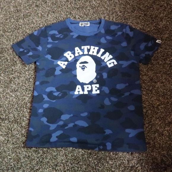 9a4c6238 BAPE Shirts   A Bathing Ape Mens Blue Camouflage Size L   Poshmark