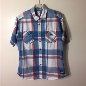 Billabong boys button down shirt with collar S