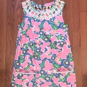 Lilly Pulitzer Shift Dress Butterfly Print size 0