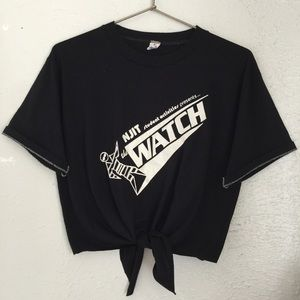 Vintage 80's NJIT the watch black tee OOAK