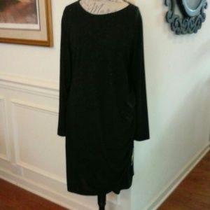 NWT APT 9 Black Glitz Knit Dress 0X/XL 14/16
